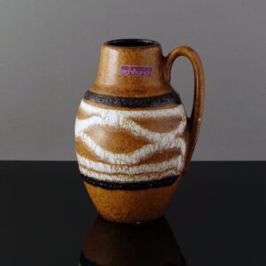 scheurich-jug-handle-striped-fat-lava-vase