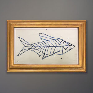 kubach-fish-drawing-gold-frame