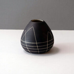 small-black-white-sgraffito-modernist-vase