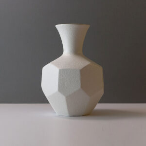 royal-haeger-faceted-matte-white-stoneware-vase