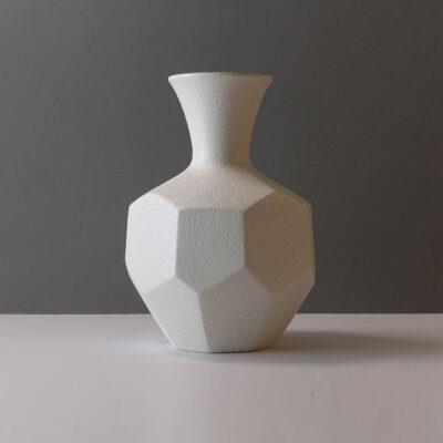 royal-haeger-faceted-matte-white-stoneware-vase