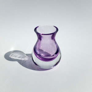 violet-pink -blown-glass-bud-vase