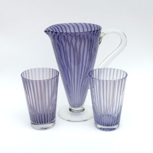 venini-style-blown-glass-iced-tea-barware-set