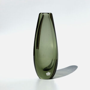 kosta-sweden-tapered-blown-glass-vase