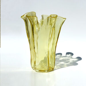 muurla-finland-bright-yellow-handkerchief-vase
