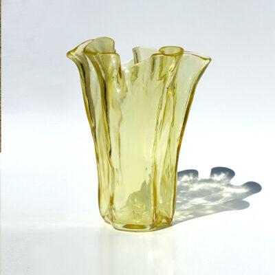 muurla-finland-bright-yellow-handkerchief-vase