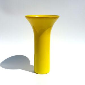 yellow-cased-glass-trumpet-vase