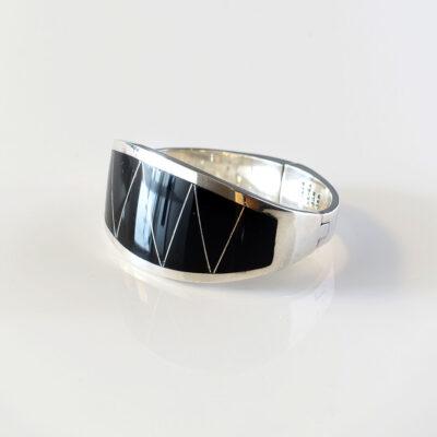 modernist-onyx-sterling-taxco-cuff-bracelet
