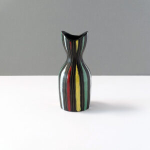 vintage-italian-striped-black-ceramic-vase