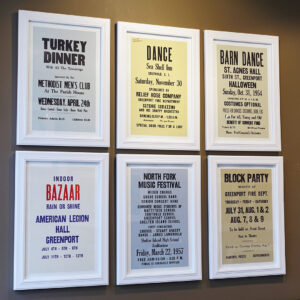 20-246 Six North Fork Vernacular Typography Posters