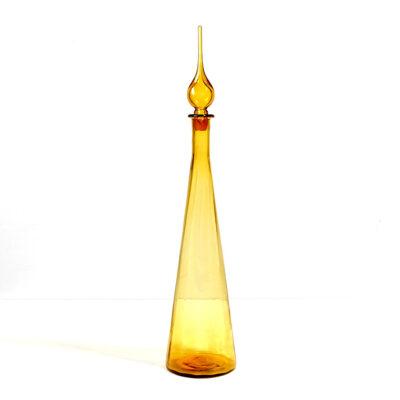 empoli-art-glass-genie-bottle-amber-27-inch
