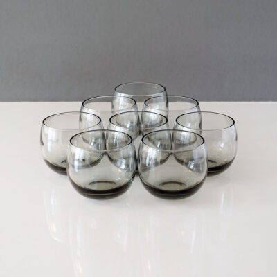 libbey-gray-roly-poly-lowball-rocks-tumblers