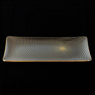 rectanglular-spiral-platter-copenhagen 1960s