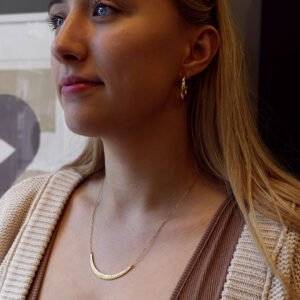 20-381KE Kate Eickelberg Gold Sand Bar Necklace
