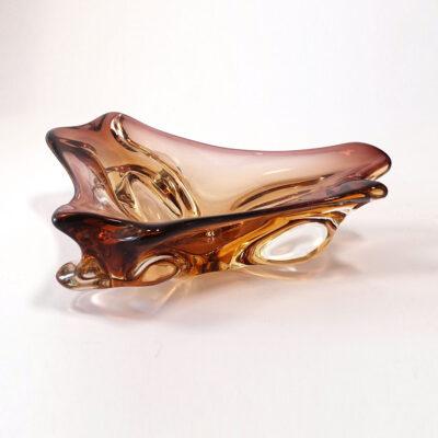 murano-tricorn-art-glass-deep-amber-sommerso-bowl