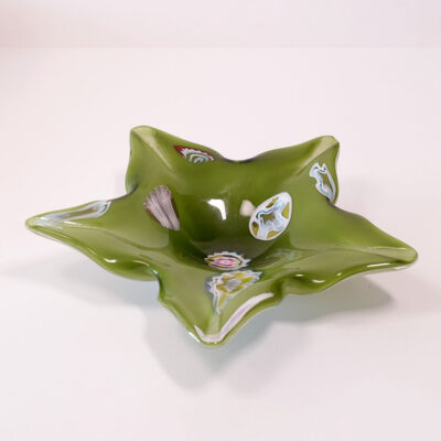 murano-millefiore-green-star-dish