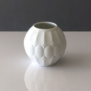 Royal Porzellan White Bisque Round Vase