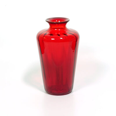 venini-murano-optical-blown-glass-red-vase
