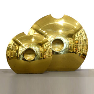 round-flat-brass-convex-lens-vase-set-of-2