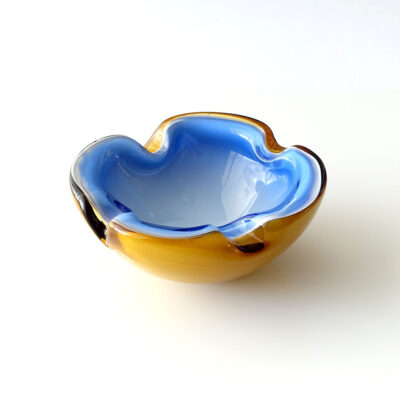 Barbini Murano Italy cased glass ashtray trinket bowl