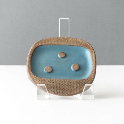 joseph-mitrani-studio-pottery-soap-dish-blue