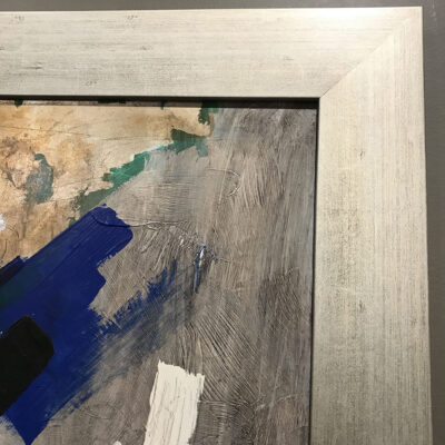 20-516 1967 Abstract Expressionist Oil Painting Signed Knapp