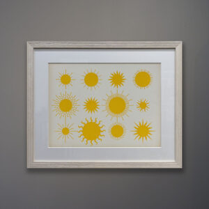 Kubach Suns Original Gouache Painting on Board