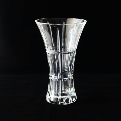 heavy-flared-geometric-cut-crystal-vase