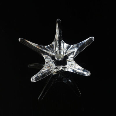 daum-crystal-star-tapered-candle-holder