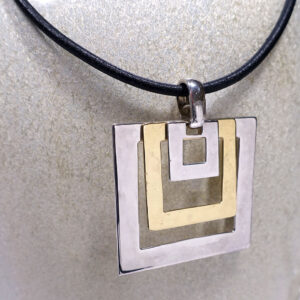 robert-lee-morris-three-squares-sterling-brass-necklace