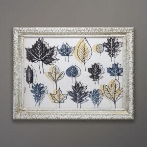 Kubach Leaf Mid-Century Silkscreen Print
