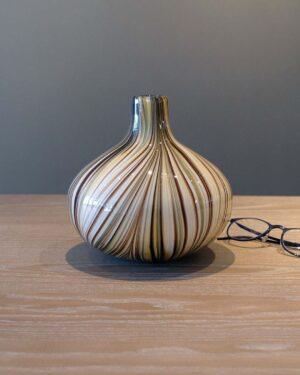 2018-041-Murano-Vintage-Cased-Multi Color-Striped-Vase