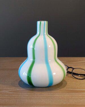 2018-042-Murano-Blue-Green-Cased-Glass-Vase