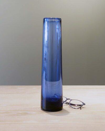 2018-050-holmegaard-per-lutken-blue tall-vase
