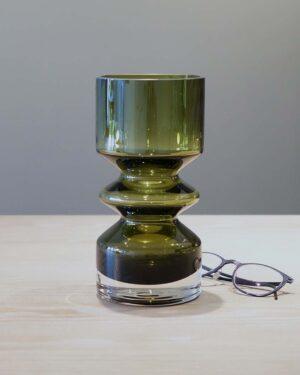 2018-051-Tamara Aladin for Finncristall-hooped olive green vase