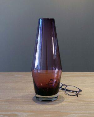 2018-054-Riihimaki-Tapered-Violet-Glass-Vase