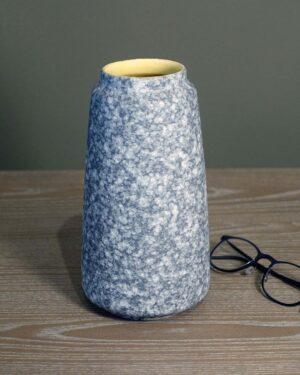 2018-066-West-German-Vase-with-Matte-Granite-Glaze-Yellow-Glossy-Interior