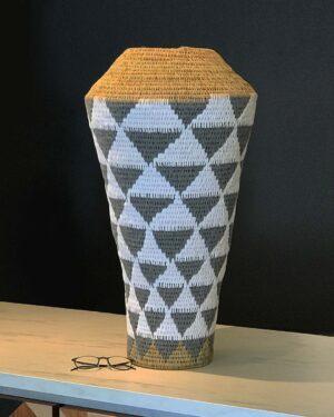 2018-073-Handmade-African-Basket-Floor-Vase