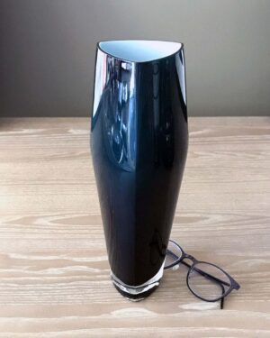 2018-130-black-cased-glass-triangular-vase