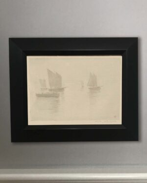 2018-295-guerard-boats-in-the-fog-black-frame