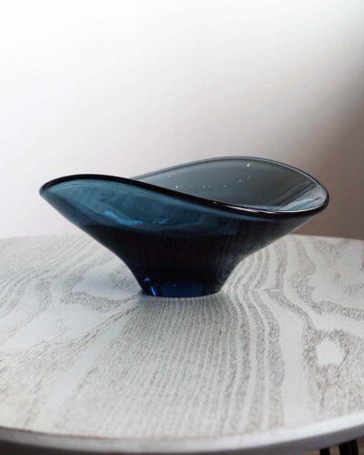 2018-331-Holmegaard-Style-Blue-Gray-Glass-Asymmetrical-Dish