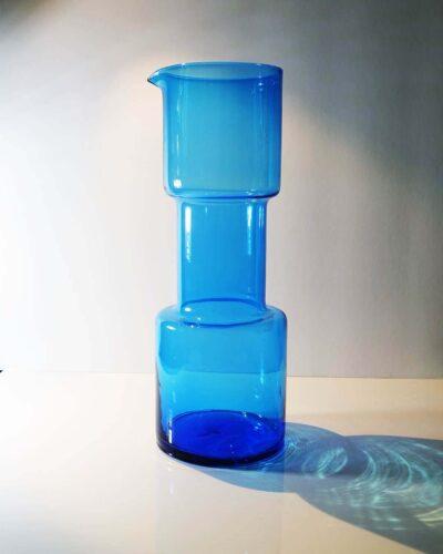 2018-385-morgantown-blue-barbell-pitcher-decanter