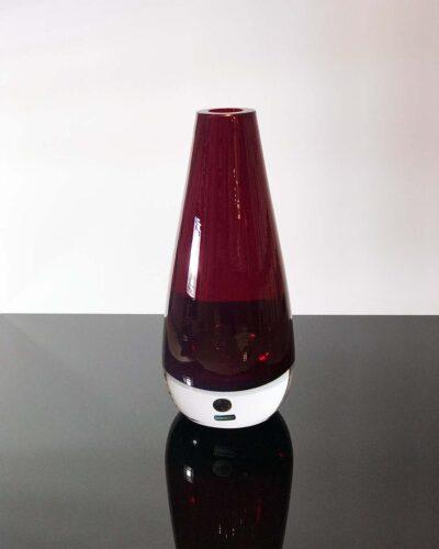2018-437-Reijmyre-Sweden-Deep-Ruby-Handmade-Bullet-Vase