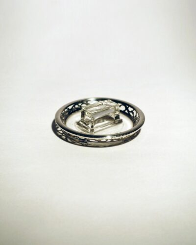 English-Silverplate-Crystal-Ashtray-Matchbook-Holder