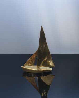 large-brass-sailboat