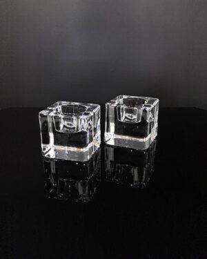 orrefors-ice-cube-votive-holders