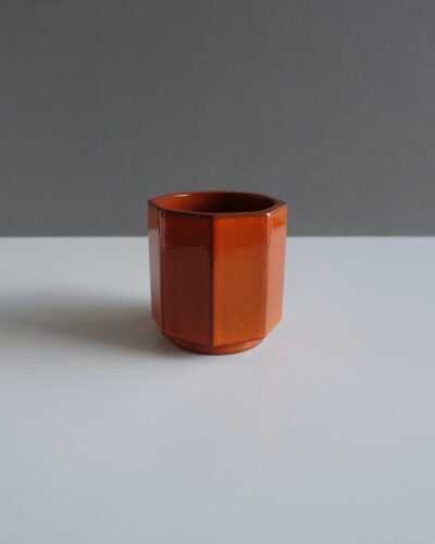 west-german-ceramano-burnt-orange-vase