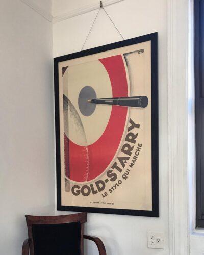 1927-original-gold-starry-advertising-poster