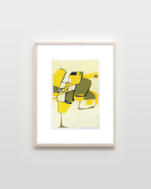 susan-orlie-yellow-abstract-mat-framed