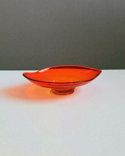 orange-depression-glass-biomorphic-bowl